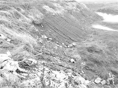 调查:受伤的母亲河 万吨工业垃圾倾倒长江堤坝内