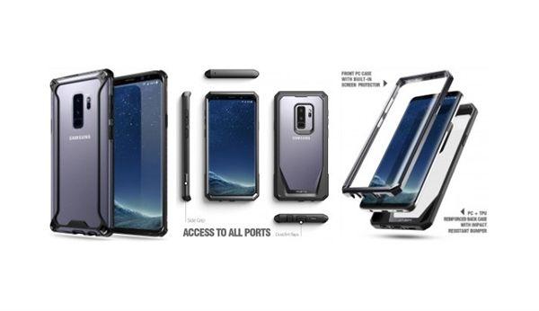 骁龙845加持!三星S9+带壳渲染图:超高屏占比