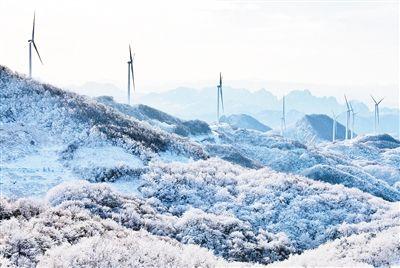 湖北后坪镇黄连山风力发电场投运