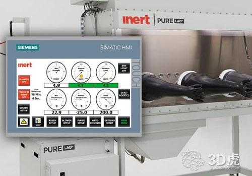 Inert联合西门子为3D打印等生产流程创建新的手套箱