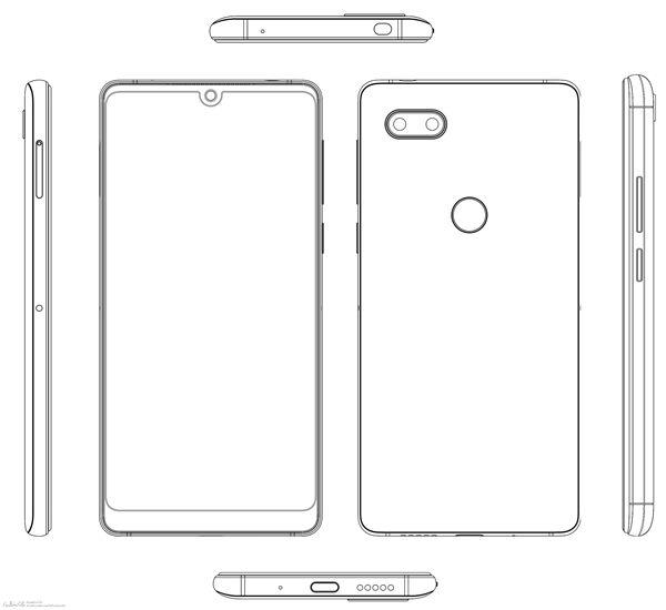 努比亚异形全面屏渲染图:神似Essential Phone