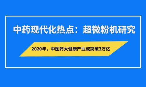 中医药产业超越3万亿元 超微粉碎研究是突破口