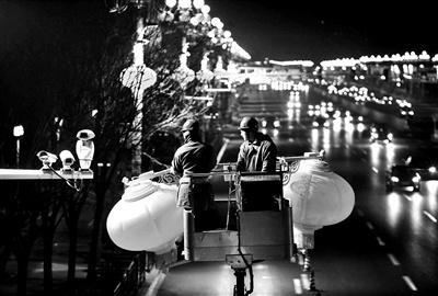 北京长安街景观灯笼延伸至三环 光源采用LED节能灯