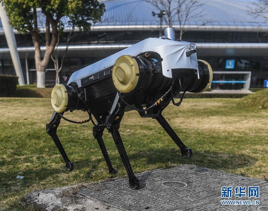 """浙大发布""""绝影""""四足机器人"""