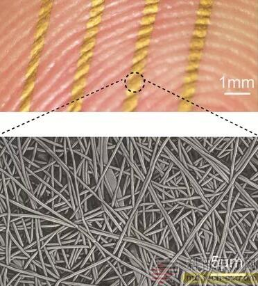 透气可穿戴皮肤传感器可用于长期健康监测