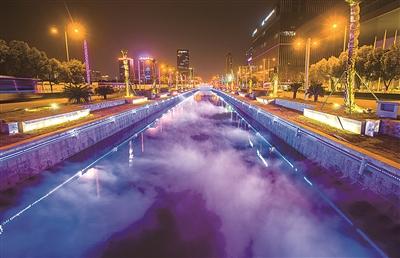 宁波东部新城景观照明提升工程今晚6时正式亮灯