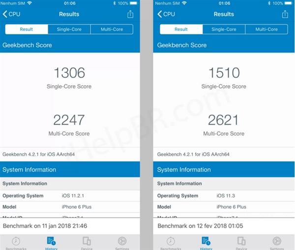 苹果做到让老iPhone运行iOS 11.3性能恢复