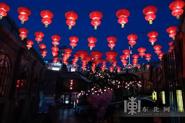 大红灯笼高高挂 哈尔滨扮靓街景迎新春