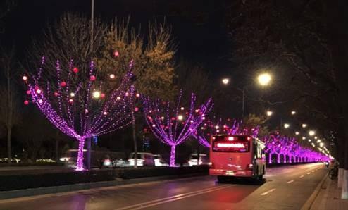绿色安全的灯光代替火光 照亮这个新年