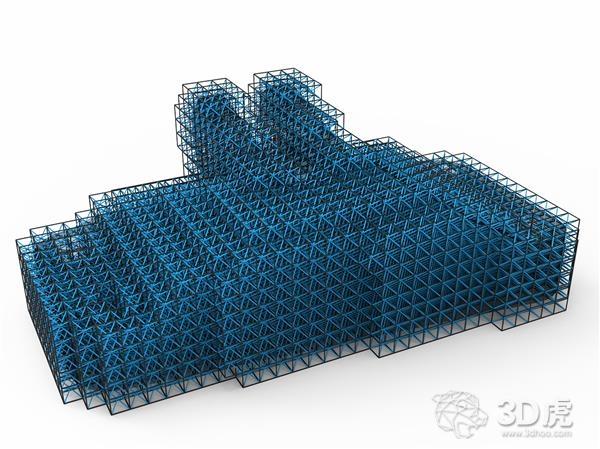FATHOM发布在Rhino中创建网格结构的开源插件Crystallon