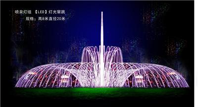 敦化2018国际冰雪灯光节采用LED光雕技术