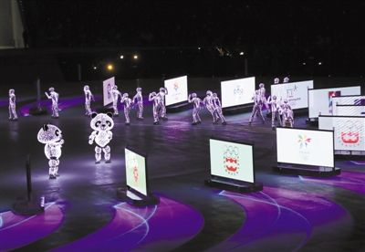 """北京八分钟:移动机器人""""冰屏""""惊艳世界"""