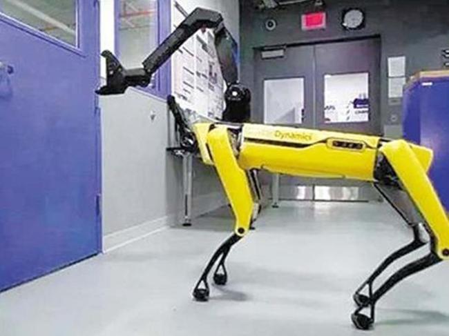 会开门的机器人 波士顿动力展示新技术