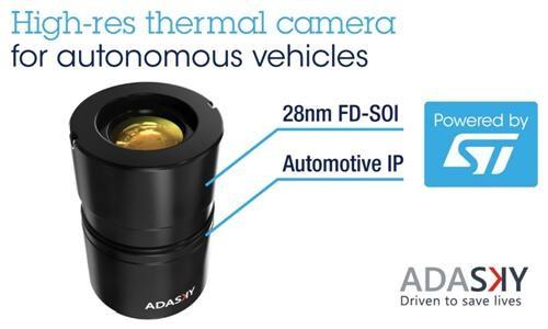 AdaSky携手ST为自动驾驶带来高分辨率红外热像解决方案