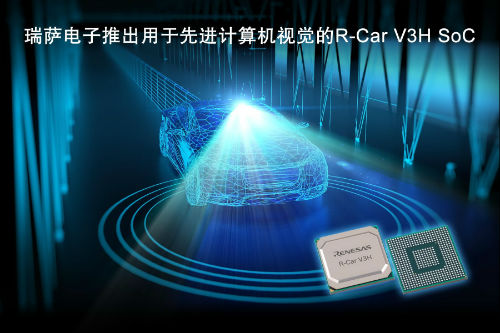 瑞萨电子推出用于3、4级自动驾驶汽车前视摄像头的R-Car V3H SoC