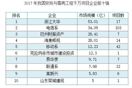 """""""雪亮工程""""照亮中国安防企业掘金之路"""