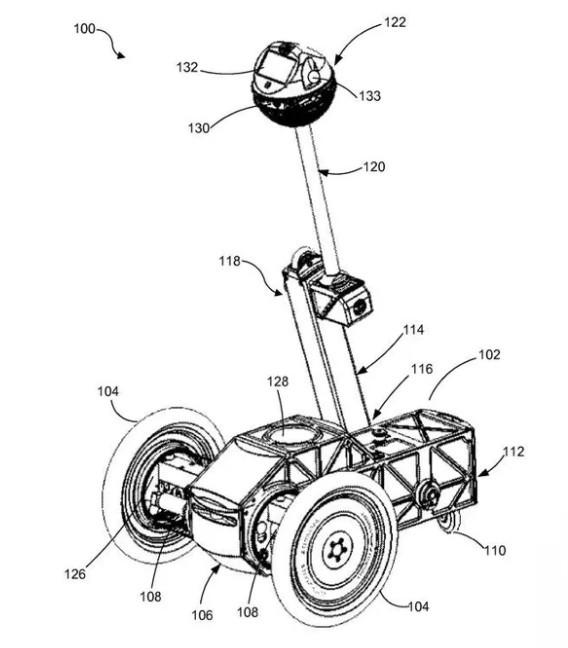 Facebook获得新专利:能远程直播的两轮机器人