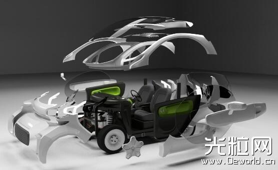 3D打印博物馆感受进入中国的第一辆3D打印电动车XEV