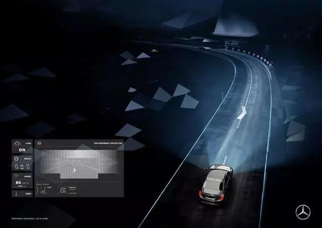 """车灯上玩""""投影"""" 奔驰的这项数字大灯技术照明人应该看看"""