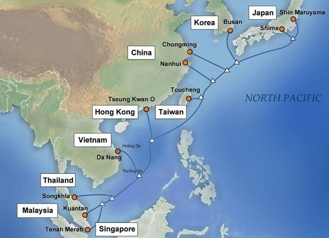 APG海底光缆系统越南段将于4月10日恢复运营
