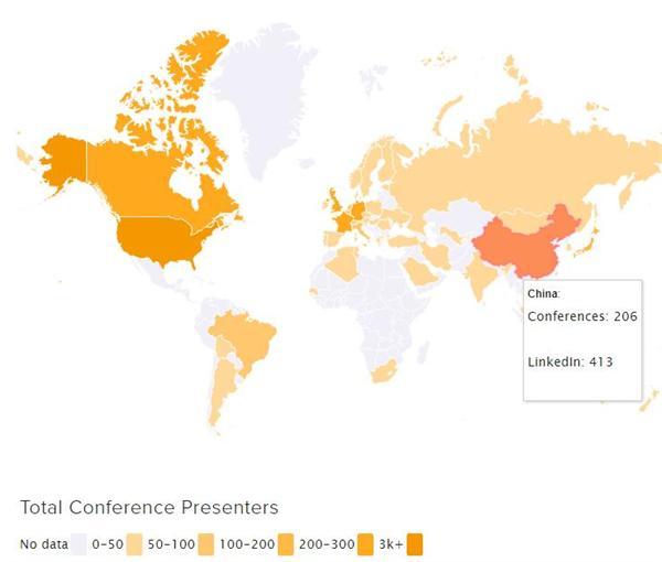 """全球AI人才数量""""热图""""分析:中国全球第7 欧洲是人才聚集地"""