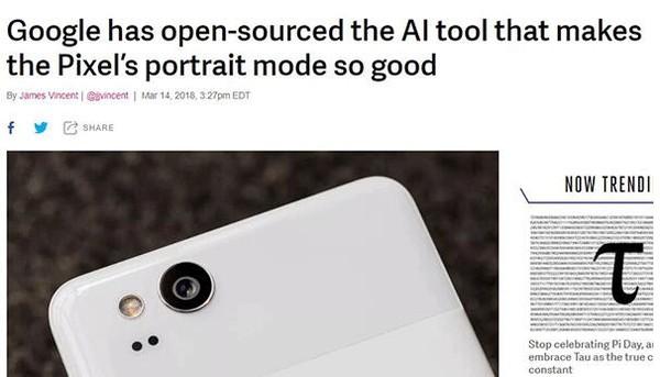 福利来了:谷歌开源Pixel 2手机的人像模式