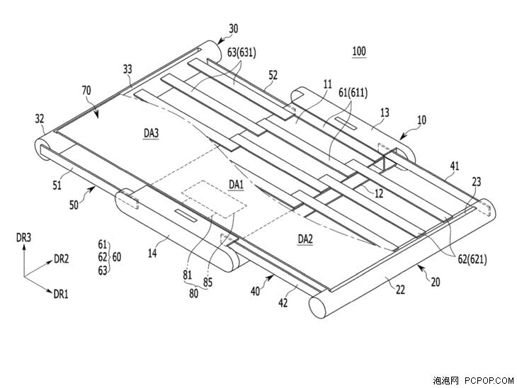 """柔性屏黑科技 三星新专利展示""""卷轴""""手机"""