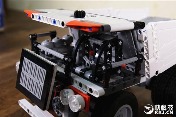 米兔积木矿山卡车开箱图赏:不带电也能动
