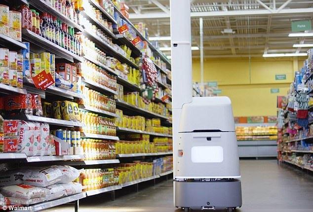 沃尔玛货架机器人采用激光雷达实现精确导航