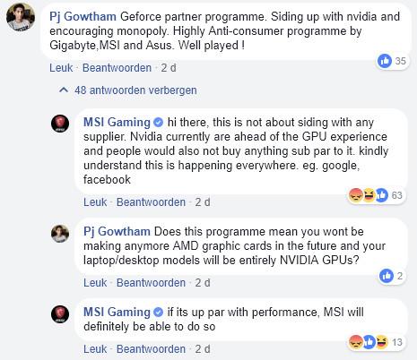 微星Gaming显卡也选择站队NV了,A卡虚不虚?