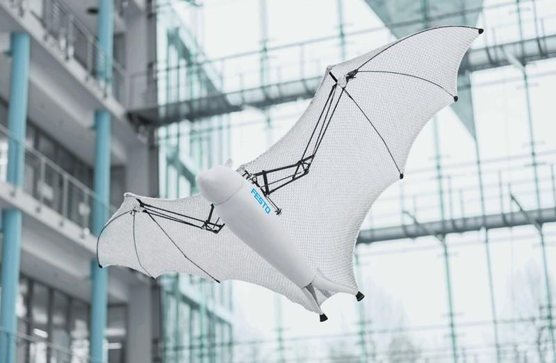 Festo最新仿生机器人成果:会滚动的蜘蛛机器人和能飞的蝙蝠机器人