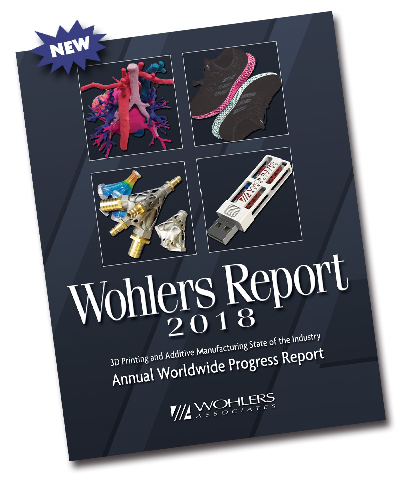 沃勒斯报告2018:3D打印行业增长持续 金属3D打印机销量惊人