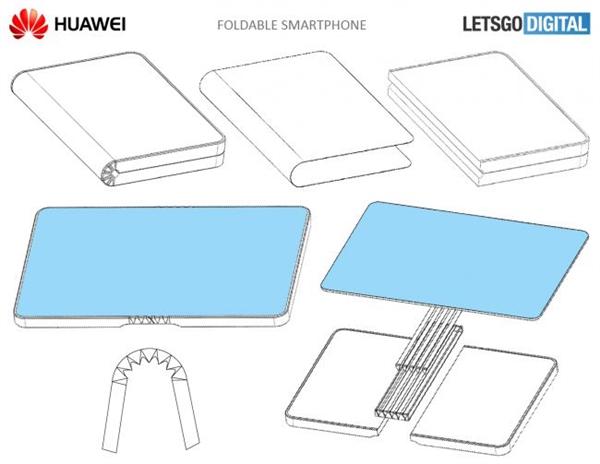 华为可折叠手机专利曝光:大小屏1秒切换