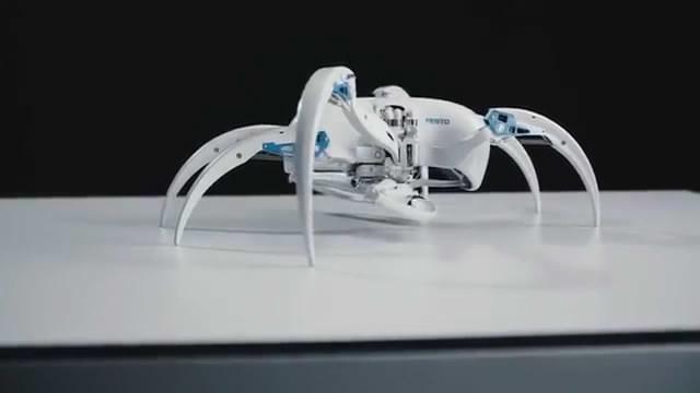 灵感来自由蜘蛛和果蝠仿生学的机器人 酷极了