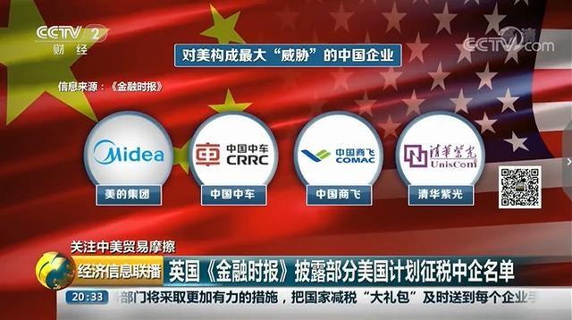 """意在破坏""""中国制造2025""""!美国酝酿新的加征关税名单:紫光/中车/美的/商飞等上榜!"""