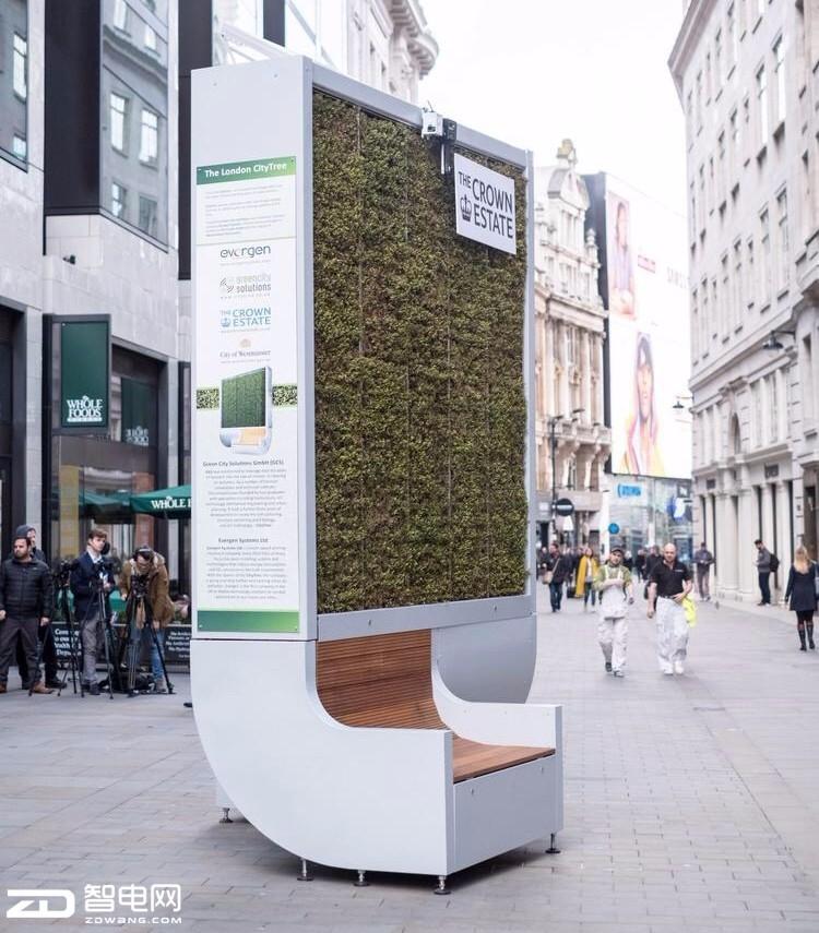 """一款可净化空气的""""椅子""""竟进入英国街头"""