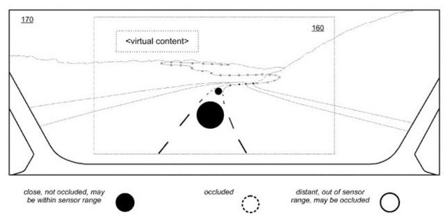 苹果申请无人驾驶新专利 在挡风玻璃上显示信息