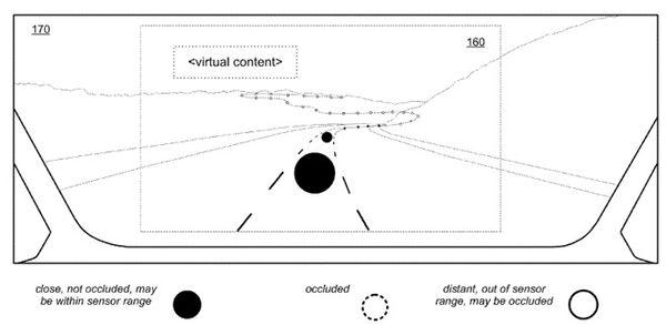 苹果新专利:在挡风玻璃上AR显示路况等信息