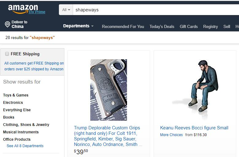 3D打印网络服务商Shapeways被亚马逊收购了