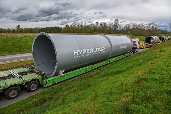 超级高铁公司首批全尺寸管道运抵法国,将展开真空悬浮试验