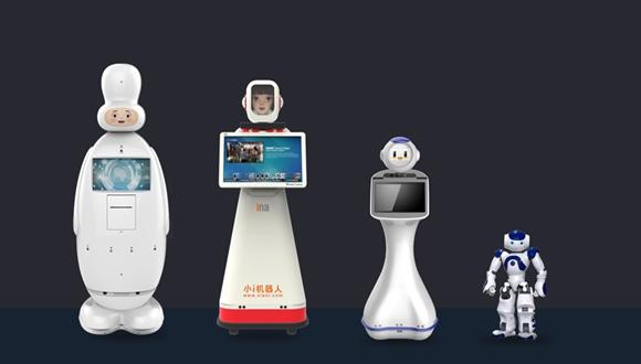 """上交会探营:机器人""""润""""为你跑腿 小i提供智能客服"""