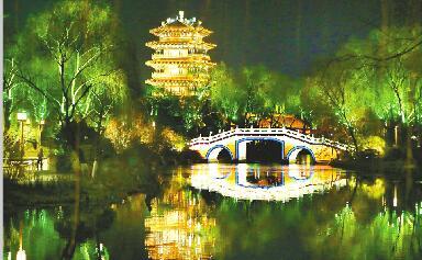 """夜景照明要有更多济南范儿 """"一湖一环""""景观照明引发市民新期待"""