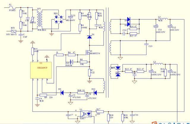greatwall液晶显示器电源电路炸裂维修