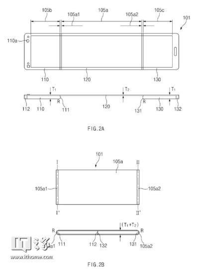三星柔性屏设备专利曝光 适用智能手机、平板电脑或可穿戴设备