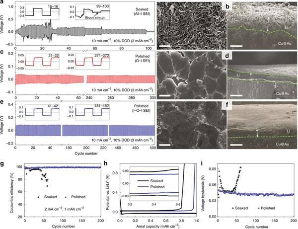 厦门大学Nat. Commun: 三种碱金属表面的电化学调控及SEI膜的多尺度表征