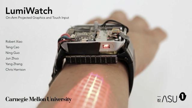 梦想成真 这款智能手表让您的手臂变身触屏