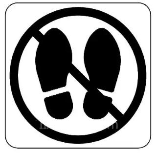机器人单元上的警告标记