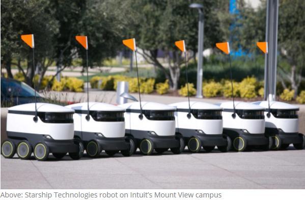 Starship推商用自动驾驶机器人配送服务