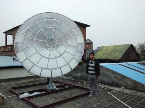 全球唯一投射式高倍聚光太阳能热发电系