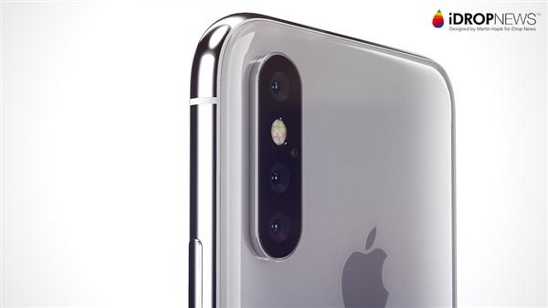 iPhone明年上三摄像头 首次支持3倍光学变焦
